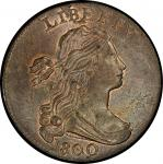 1800 Draped Bust Cent. Sheldon-197. Rarity-1. Mint State-64 RB (PCGS).