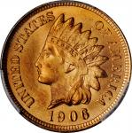 1906 Indian Cent. MS-66 RD (PCGS).