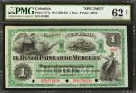 COLOMBIA. Banco Popular De Medellín. 1 Peso, 18__. P-S771s. Specimen. PMG Uncirculated 62 Net.