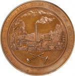 1866 (1868) Monnier Treatment of Copper Medal. Julian CM-34. Copper. MS-63 BN (NGC).