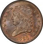 1828 Classic Head Half Cent. Cohen-3, Breen-2. Rarity-1. 13 Stars. Mint State-66 BN (PCGS).