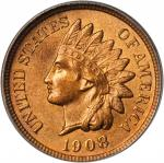 1908 Indian Cent. MS-64 RB (ANACS).