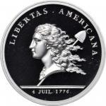 1781 (2015) Libertas Americana Medal. Paris Mint Restrike. Silver. .999 fine. 36.5 mm. Proof-69 DCAM