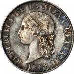 COLOMBIA. 1848 pattern 8 Pesos. Popayán mint. Restrepo P54. Silver. SP-64 (PCGS).