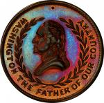 Circa 1876 The 100th Year medal. First obverse. Musante GW-843, Baker-414. Copper. MS-65 RB (PCGS).