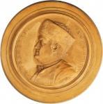 1777 Benjamin Franklin Medallion. Mottled Beige Terracotta. 119 mm. By Nini. Greenslet-5. Rarity-6.
