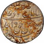 AWADH: Wajid Ali Shah, 1847-1858, AR rupee, Lucknow, AH1269 year 6, KM-365。3, slightly uneven tone,