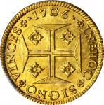 Portugal. 1706 4000 Reis. Fr-76, KM-156. MS-62 (PCGS).