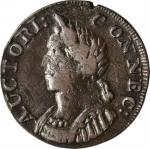1787 Connecticut Copper. Miller 7-I, W-2830. Rarity-5+. Mailed Bust Left, Hercules Head. VF-20 (PCGS