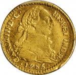 COLOMBIA. Escudo, 1785-P SF. Popayan Mint. Charles III (1759-88). PCGS AU-50 Gold Shield.