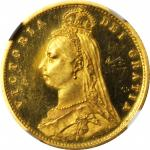 GREAT BRITAIN. 1/2 Sovereign, 1887. NGC PROOF-63 ULTRA CAMEO.