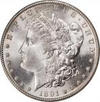 1891-S Morgan Silver Dollar. MS-65 (NGC). CAC.