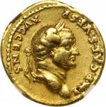 VESPASIAN, A.D. 69-79. AV Aureus (7.14 gms), Rome Mint, ca. A.D. 73. NGC Ch VF, Strike: 5/5 Surface: