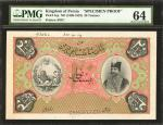 IRAN. Imperial Bank of Persia. 20 Tomans, 1890-1923. P-5sp. Specimen Proof. PMG Choice Uncirculated