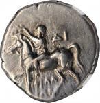 ITALY. Calabria. Tarentum. AR Nomos (6.29 gms), ca. 272-240 B.C. NGC Ch VF, Strike: 4/5 Surface: 3/5