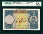 IRAN. Imperial Bank of Persia. 100 Tomans, 1924-32. P-17s. Specimen. PMG Choice About Uncirculated 5