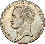 Monete e Medaglie di Zecche Italiane, Napoli.  Giuseppe Napoleone (1806-1808). Piastra 1806. P/R 1.