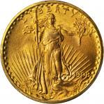 1908 Saint-Gaudens Double Eagle. No Motto. MS-66 (PCGS).