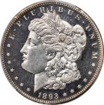 1893 Morgan Silver Dollar. Proof-64 Cameo (PCGS).