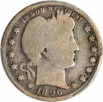 1896-S Barber Quarter. Good-4 (PCGS).