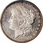 1881 Morgan Silver Dollar. MS-65 DMPL (ANACS). OH.