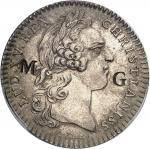 GUADELOUPE Louis XV (1715-1774). Jeton de 30 sous contremarqué MG pour Marie-Galante par Roëttiers N