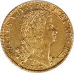 BRAZIL. 12,800 Reis, 1732-M. Joao V (1706-50). PCGS Genuine--Tooled, AU Details Secure Holder.