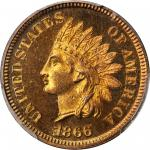 1866 Indian Cent. Proof-67 RB (PCGS).