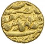 JAIPUR: Ram Singh, 1835-1880, AV mohur (10.71g), Sawai Jaipur, year 30, KM-125, one minuscule testma
