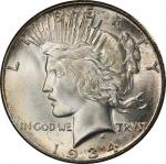 1934-S Peace Silver Dollar. MS-66 (PCGS). CAC.