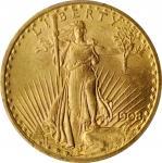 1908 Saint-Gaudens Double Eagle. No Motto. MS-62 (PCGS).