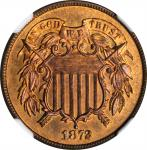 1872 Two-Cent Piece. Proof-66 RD (NGC).