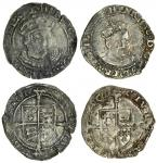 Edward VI (1547-53), coinage in the name of Henry VIII, Groats (2), both York, 2.17g, m.m. none, hen