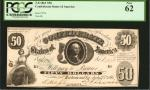T-8. Confederate Currency. 1861 $50. PCGS Currency New 62.