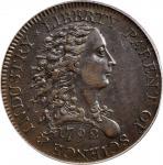 1792铜币美分 PCGS AU 58