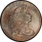 1800 Draped Bust Cent. Sheldon-209. Rarity-3. Mint State-65+ RB (PCGS).