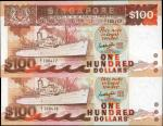 1985年新加坡货币发行局一佰圆。替补券。Gem Uncirculated.