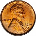 1914-S Lincoln Cent. MS-65+ RD (PCGS).