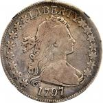 1797 Draped Bust Half Dollar. O-101, T-1. Rarity-5. VG-10 (NGC).