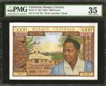 CAMEROON. Banque Centrale. 5000 Francs, ND (1962). P-13. PMG Choice Very Fine 35.