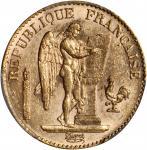 FRANCE. 20 Franc, 1896-A. PCGS AU-58 Secure Holder.