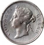 1895年海峡殖民地5毫银币,PCGS VF Detail有修补