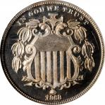 1868 Shield Nickel. Proof-66 Ultra Cameo (NGC).