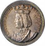 1893 Isabella Quarter. MS-64 PL (NGC). OH.