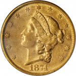 1874-S Liberty Head Double Eagle. AU-53 (PCGS). OGH.