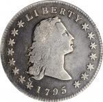 1795 Flowing Hair Silver Dollar. BB-21, B-1. Rarity-2. Two Leaves. VG-8 (PCGS). OGH.