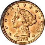 1878 Liberty Quarter Eagle. MS-62 (PCGS).
