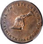 Undated (ca. 1793-1795) Kentucky Token. W-8800. Rarity-1. Copper. Plain Edge. AU-58 (PCGS).