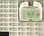 United States of America. April 16, 1934. $50 3-1/4% Treasury Bond of 1944-1946. Issued. Very Fine.