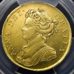 GREAT BRITAIN Anne アン(1702~14) 2Guineas 1711 PCGS-AU58 EF+